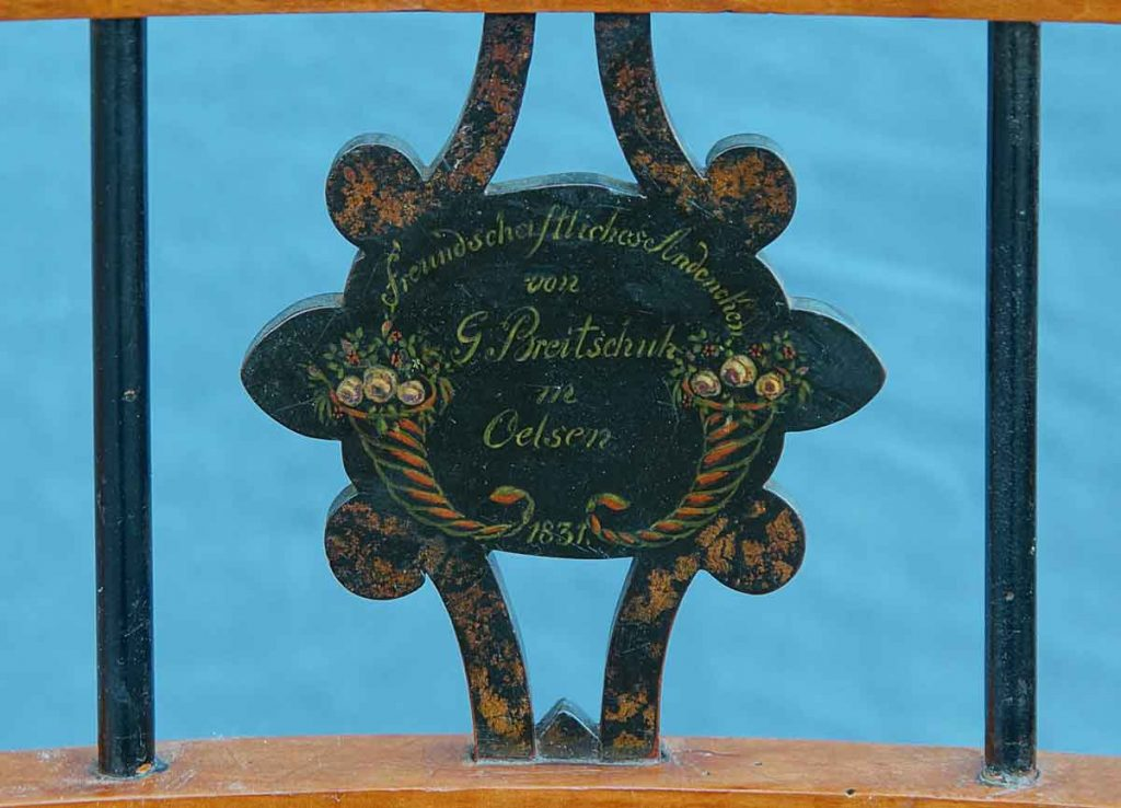 Versprossung Biedermeier-Stuhl